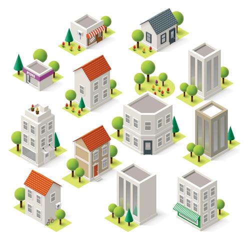 Modern-Isometric-buildings-model-vector-material-07